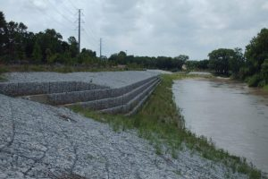 Civil Engineering - Gabion Slope-Stability Protection Structure for TRA Interceptor, Trinity River, Dallas, Texas